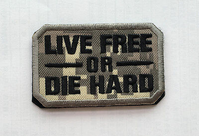 LIVE FREE OR DIE HARD USA ARMY U.S. TACTICAL MILITARY Badges HOOK & LOOP PATCH