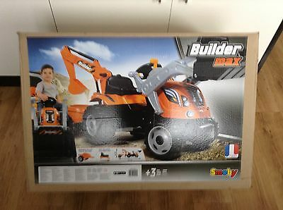 Smoby Builder Max Ride on Pedal Tractor With Trailer (2)