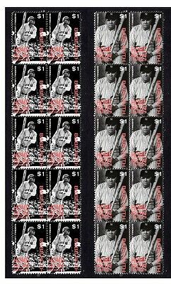 Babe Ruth New Yor Yankees H/run Heroes Mint Stamps 2