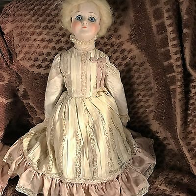 "German Kesner Antique reproduction Victorian 21"" doll"