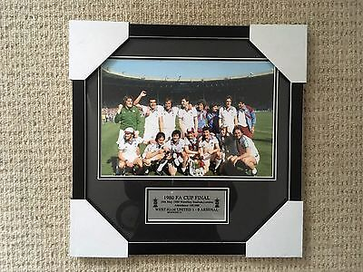 West Ham Utd 1980 Fa Cup Final Framed Photo With Plaque Bnwt