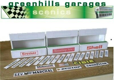 Greenhills Scalextric Slot Car Building Standard Pit Boxes Kit 1:32 Scale – B...