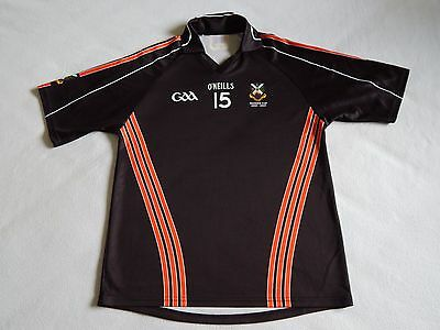 CROSS AND PASSION COLLEGE BALLYCASTLE GAA GAELIC HURLING SHIRT No.15 ,MENS L
