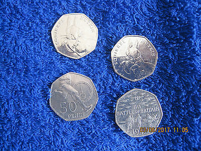 2016 50p. Two squirrel nutkins&TheBattleof Britain + athletics 50p TOTAL 4 COINS