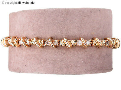 "Armband ""22 Brillanten total ca. 1,10 Karat"" Gold"