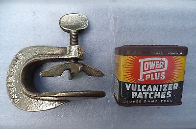 "VINTAGE "" Power Plus "" CAR MOTORCYCLE TUBE REPAIR VULCANIZING CLAMP Man Cave"