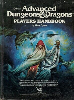 Dungeons and Dragons TSR inc Players Handbook first edition rules