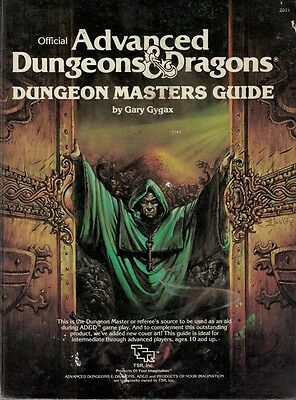 Dungeons and Dragons TSR inc Dungeon Masters Handbook first edition rules