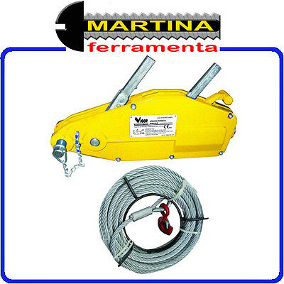 Winch Manual With Rope M 20 Lifting And Traction 3200 Kg