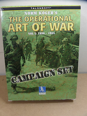 RARE N Kroeger The Operational Art Of War Campaign Set 1939 - 1955 PC Big Box CD