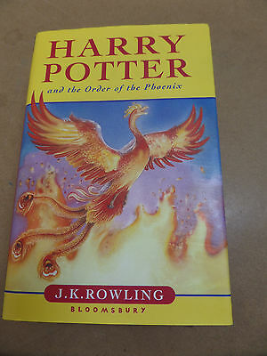 HARRY POTTER AND THE ORDER OF THE PHOENIX UK 1st EDITION 1st PRINT HARDBACK BOOK