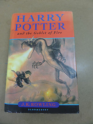HARRY POTTER AND THE GOBLET OF FIRE UK 1st EDITION 1st PRINT HARDBACK BOOK