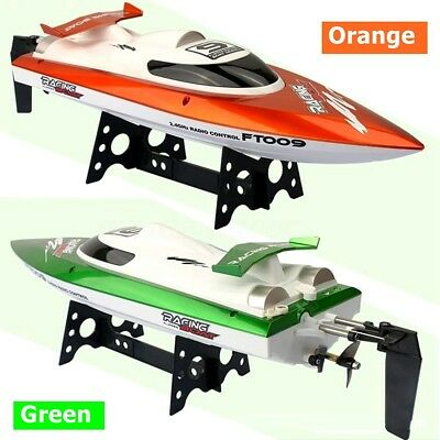 FT009 2.4G 4CH High Speed Racing RC Boat Water Remote Control Orange Green Motor