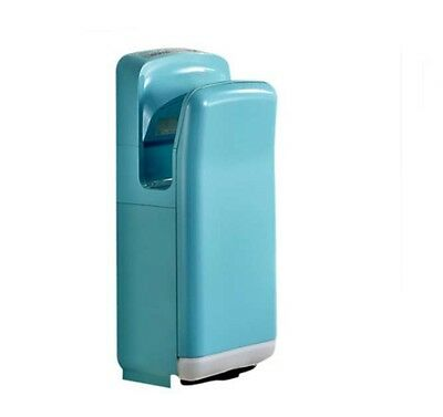 Light Blue Automatic Induction Double Quick Drying Jet Blade Hand Dryer Machine