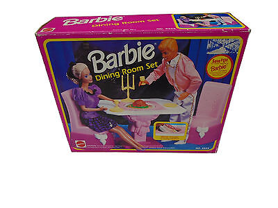 Barbie Dining Room Play Set 9324 90's Kitchen 1992 Mattel Vintage