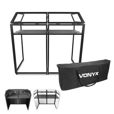 Vonyx 180.033 DB3 Professional Foldable Lightweight DJ Booth Desk with Covers