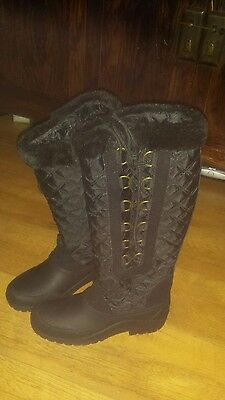 Harry Hall Polar Lined Long  Black boots  6