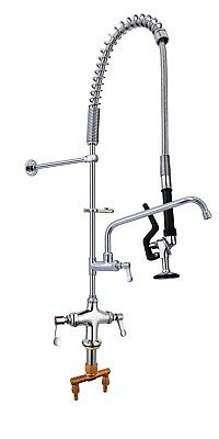 Pre Rinse Arm Commercial Kitchen Sink Spray Tap Set With Tap Del