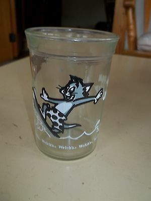 Tom & Jerry 1990 Retro Turner Entertainment Welch's Surfing Glass