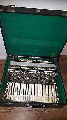 Vintage Hohner Tango III Piano Accordion, Prop or Display 1930s