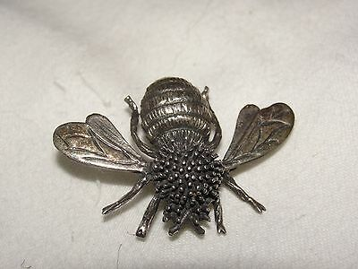Sterling Silver Vintage Taxco  Mexico Signed Ladies Honey Bee Pin Brooch
