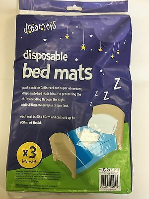 Baby Children Bed Protector Cover Mat 3 Pack Highly Absorbent Disposable  UK
