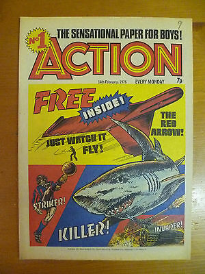 Action - No 1 - UK Comic, February 14th, 1976