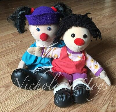 The Big Comfy Couch- Loonette & Molly Plush Dolls ~Free Shipping