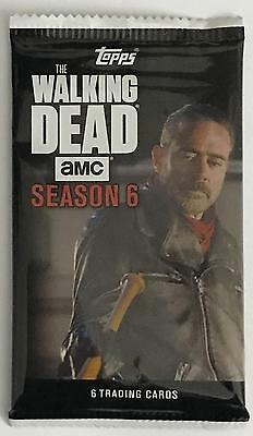 (HCW) 2017 Topps The Walking Dead Season 6 Negan AMC - 6 Card Sealed Pack