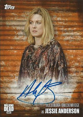 (HCW) 2017 Topps The Walking Dead Season 6 Alexandra Breckenridge Auto 15/99