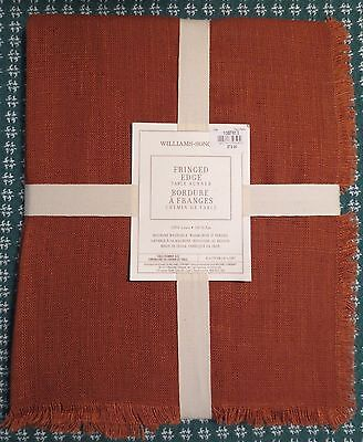 """NWT WILLIAMS SONOMA Fringed Edge Gingerbread Table Runner NEW 16""""x 108"""" NEW"""