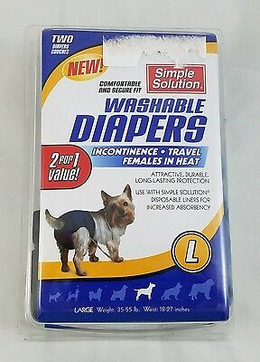 Simple Solution Washable Diapers Cover-Ups, Large, Black/Blue 2 Pack