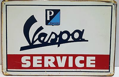 Vespa Service Vintage Retro Tin Metal Sign Plaque Home Decor Garage Studio Pub
