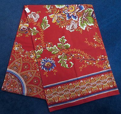 """NWT Williams-Sonoma Spanish Floral Red 18""""x108"""" Table Runner Free Ship NEW"""