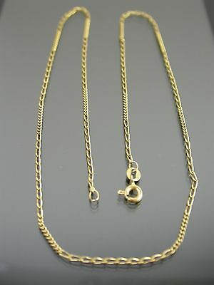 VINTAGE 9ct GOLD FANCY CURB LINK NECKLACE CHAIN 18 inch 1983