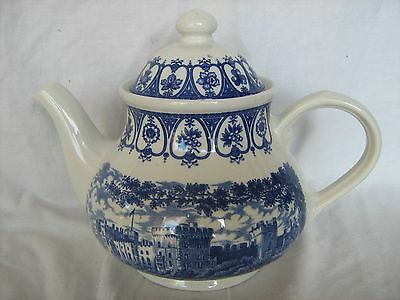 Large Churchill Royal Heritage blue and white teapot