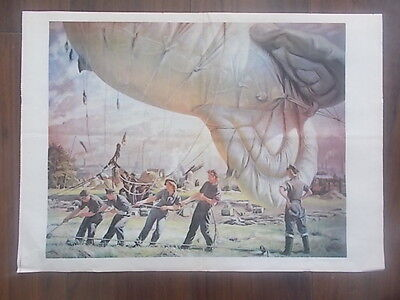 Vintage Style Wwii Information Poster - Barrage Balloons