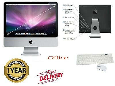 "Apple iMac 20"" Intel Core2Duo 2.0GHz - 4GB RAM - 160GB HD-12 Months Warranty"
