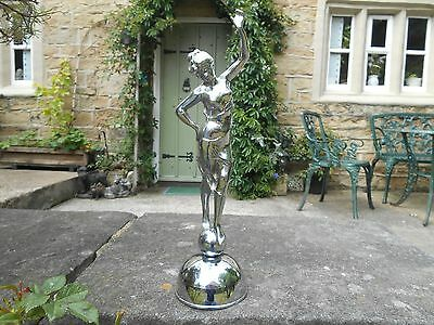 Art deco Chrome Figurine