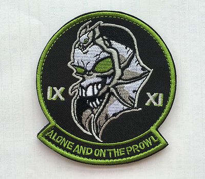 Alone And On The Prowl Tactical Badges Embroidered Hook Patch  Sh 972