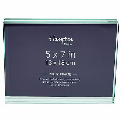 S30157H Spirit 5x7 Horizontally Freestanding Glass Photo Picture Display Frame