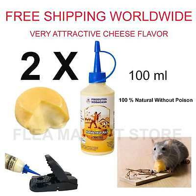 2 x PACK attractive bait 100% Natural for mousetrap trap rat mice Cheese flavor