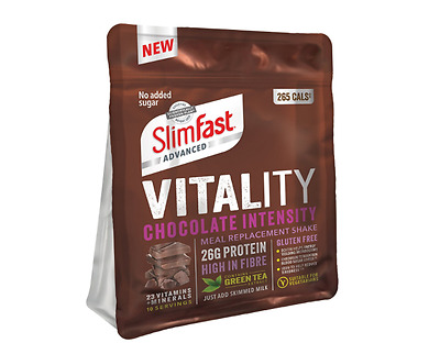 Chocolate Intensity SlimFast Vitality Meal Replacement Powder Shake 10 Servings