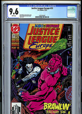 Justice League Europe #33 (1991) DC CGC 9.6 White 1st Sonic the Hedgehog
