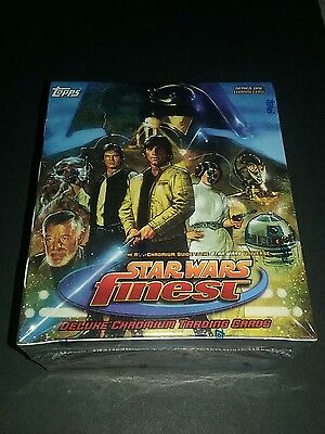 1996 Star Wars Finest Topps Chromium Trading Cards Factory Sealed Box 36 packs