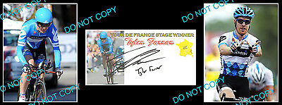 TYLER FARRAR TOUR DE FRANCE CYCLING SIGNED Cv +2 PHOTOS