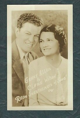 grant allen & claire wilson (radio sweethearts of song) postcard