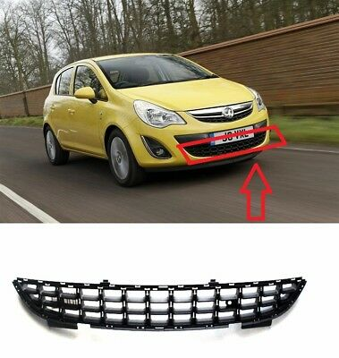 New Vauxhall Corsa D 2011-2014 Front Lower Centre Bumper Grille High Quality