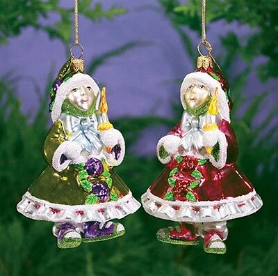 Candlelight Glass Elf Ornament Patience Brewster Christmas Tree Decoation Poland