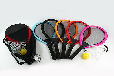 New Children Kids Adult Tennis Set with 2 Rackets Shuttle Cocks Carry Bag